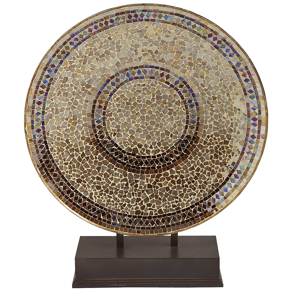 Champagne Decorative Mosaic Platter With Stand Champagne Mosaics And Interior