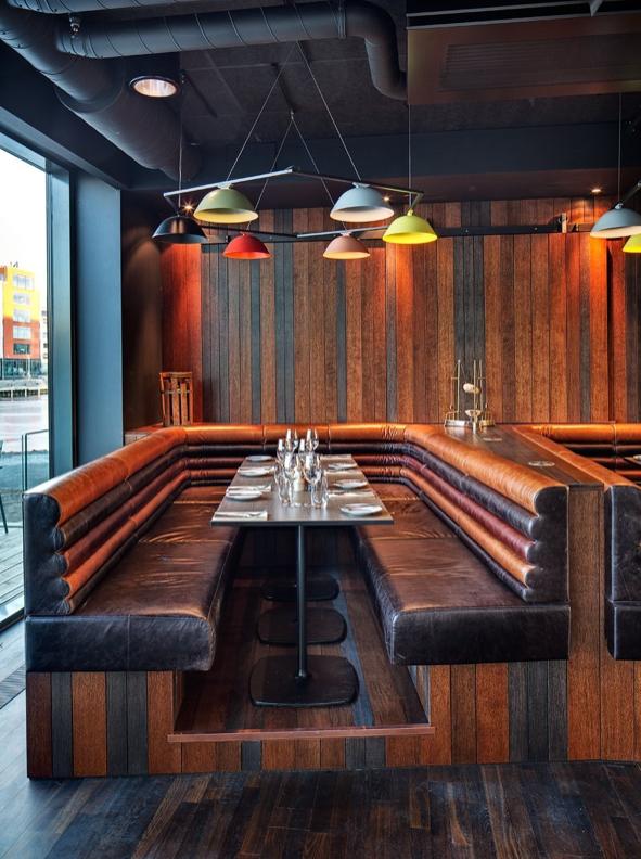 Restaurant Booth - Radisson Blu Riverside by Doos Architects How ...