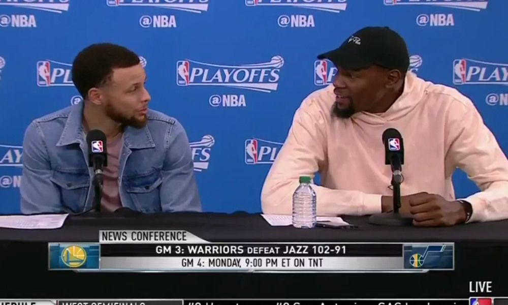 Steph Curry and Kevin Durant were hilariously amazed at