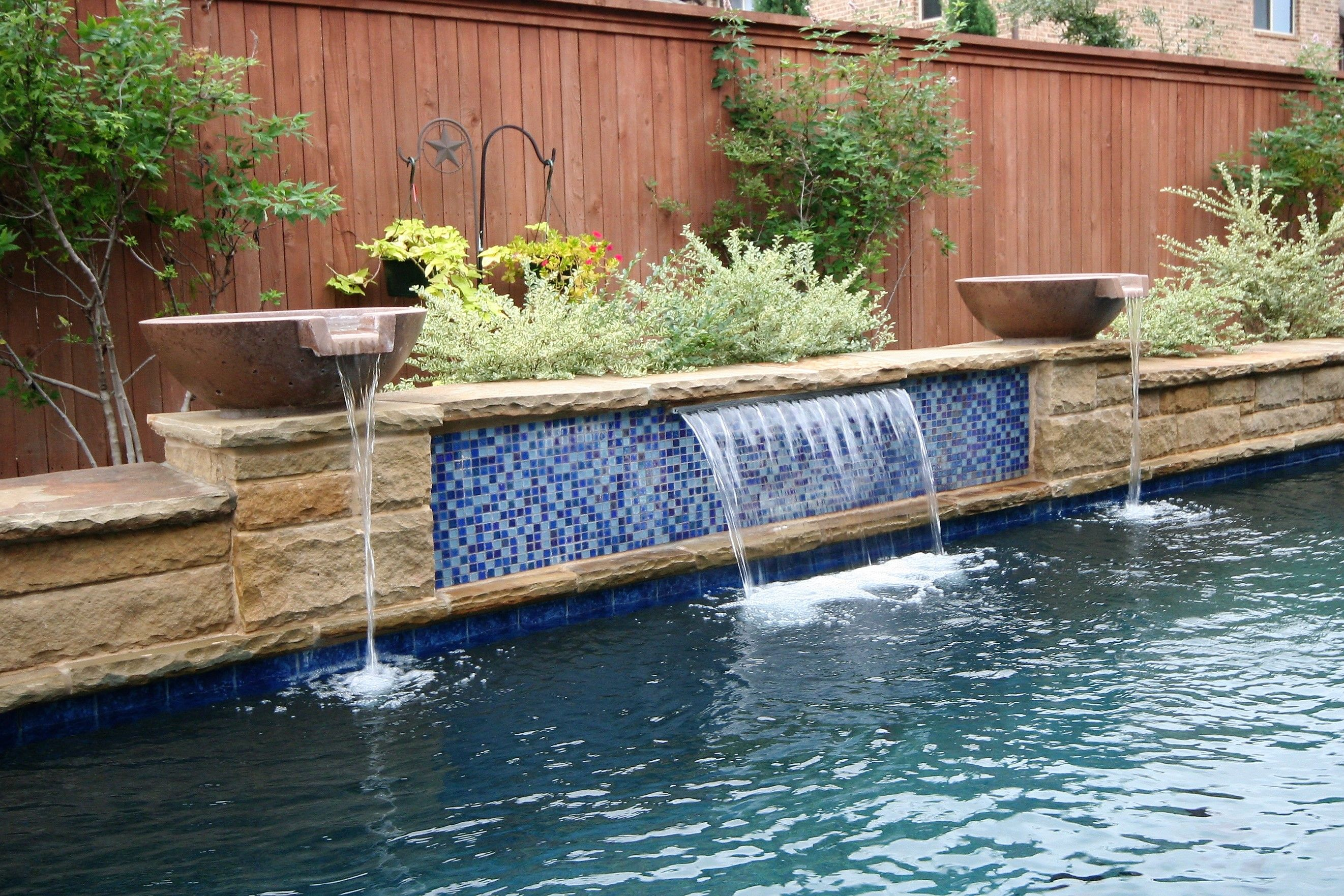 Pin By Pulliam Pools On Swimming Pool Special Features Lap Pools Backyard Rock Waterfall Pool Water Features
