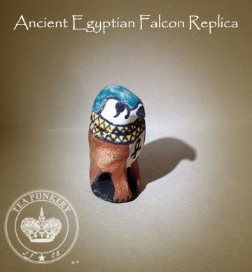 Ancient Egyptian Falcon Replica 525  30 B.C. by TeaPunkery on Etsy, $20.00