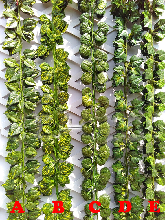 Festive & Party Supplies Creative Plastic Artificial Flower Rattan String Artificial Ivy Green Leaf Garland Plants Vine Fake Foliage Flowers Home Decor Reputation First Artificial & Dried Flowers