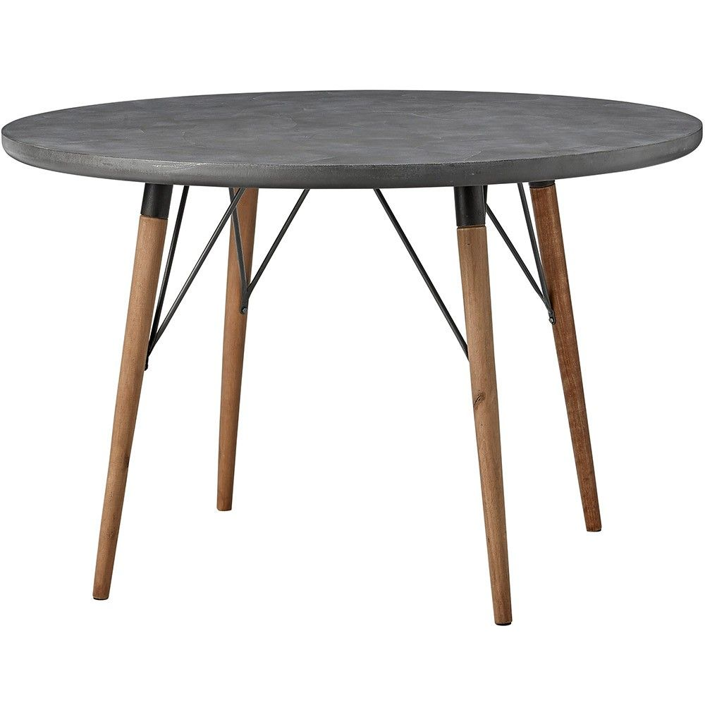 lene bjerre lynn dining table dark grey dark grey round iron dining table with pine table. Black Bedroom Furniture Sets. Home Design Ideas