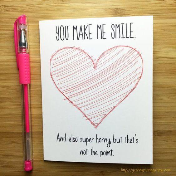 Naughty Love Card, Sexy Card For Boyfriend, Girlfriend