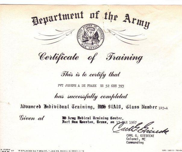 Pin by joe de frank on joe doc de frank military journal certificate of achievement template vietnam templates military role models certificate of completion template template military personnel yelopaper