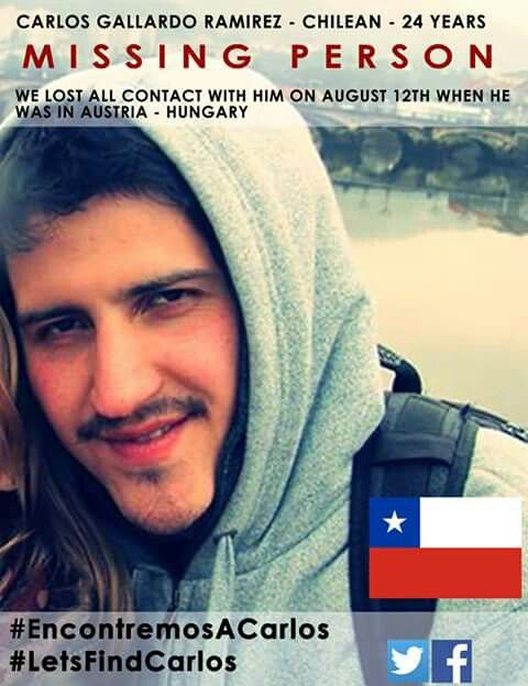 Por favor difundir foto de este joven chileno perdido europa