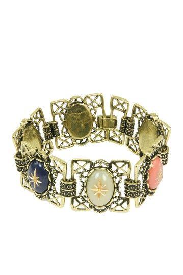 Gold Cameo Bracelet