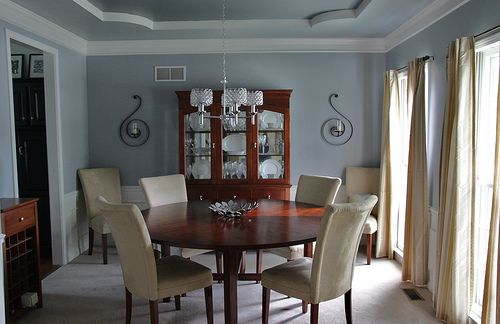 sherwin williams-uncertain grey walls and the decor..love the dark