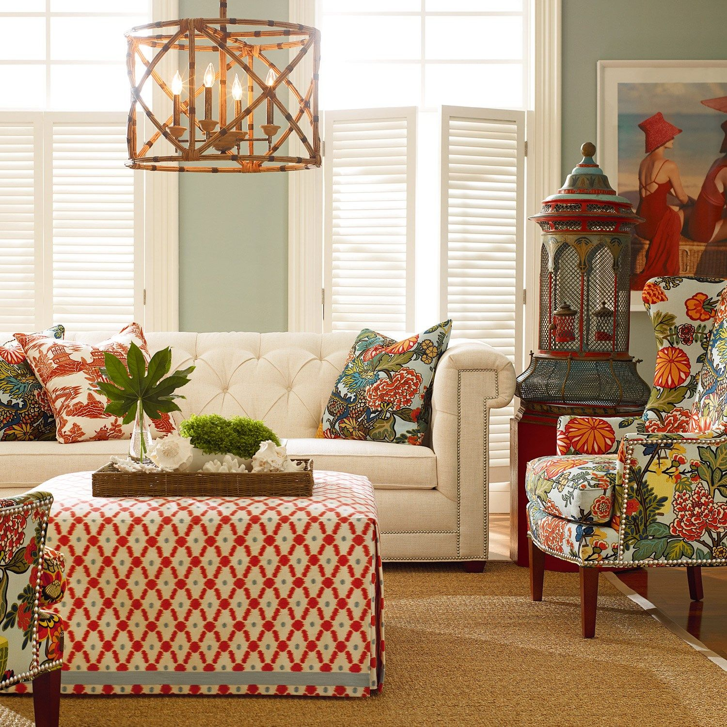 Sofa Colour Combination Sectional Sofas Kijiji Calgary Chinoiserie Love This Color Combo For The Home