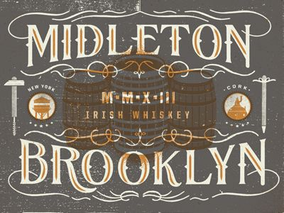 Brooklyn Blend by Two Arms Inc. typography, lettering