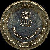 200 Escudos Bi-Metálicas -1998