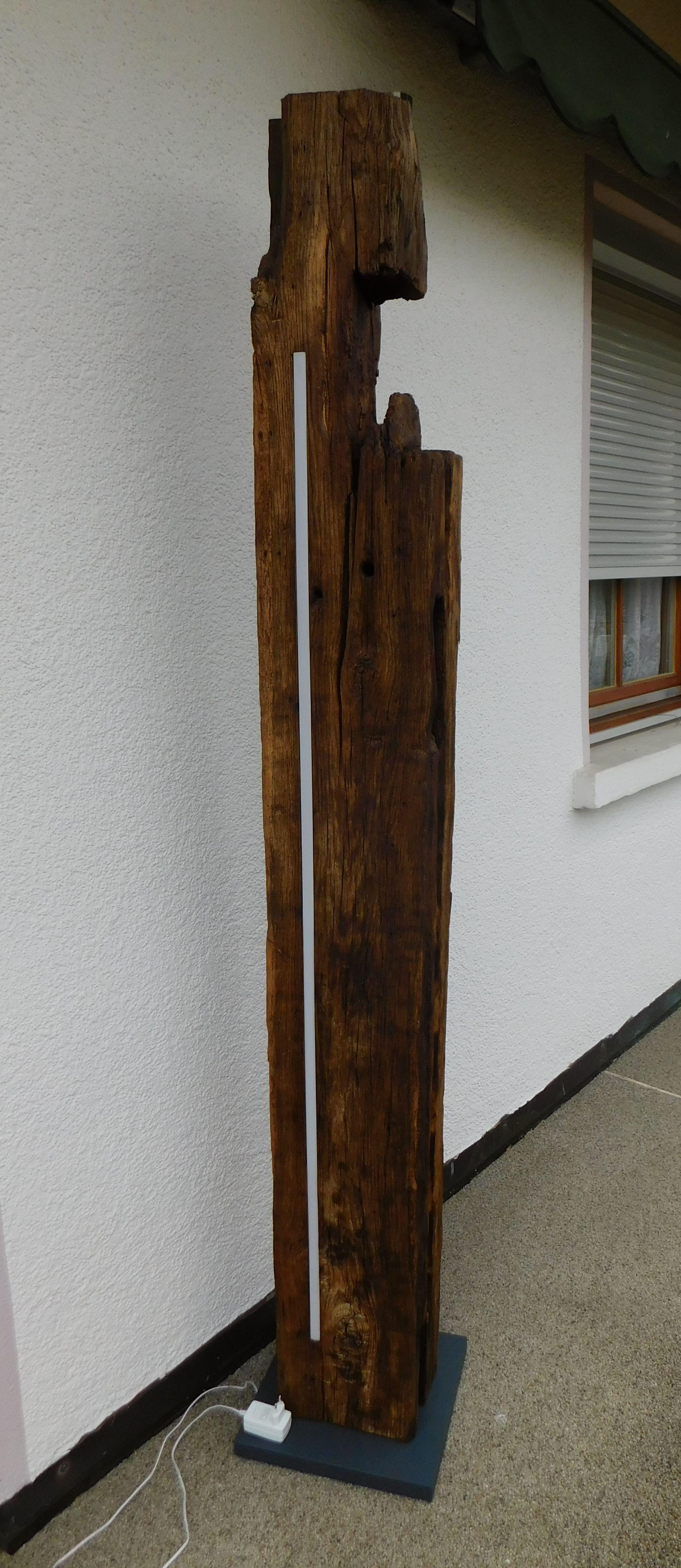 Das Unikat Sehr Sehr Schwerer Alter Eichenbalken Mit Led 150cm