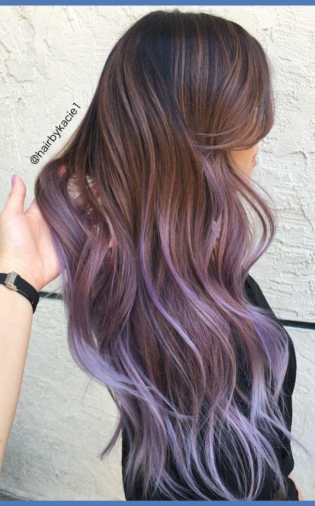 Flieder fegende Haarfarbe 2018   Hair in 2019   Haarfarben ...