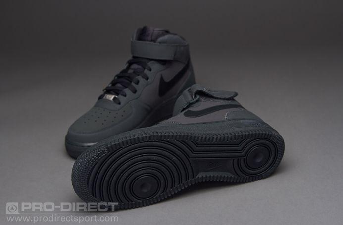 Air Force Mid Black Dark 1 Nike Charcoal bgy6f7