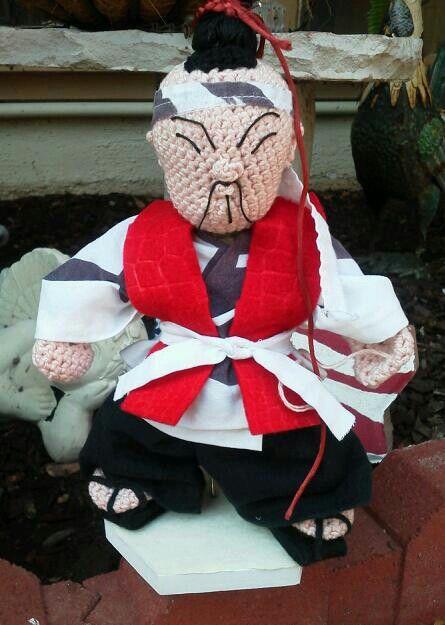 Crocheted Kokeshi