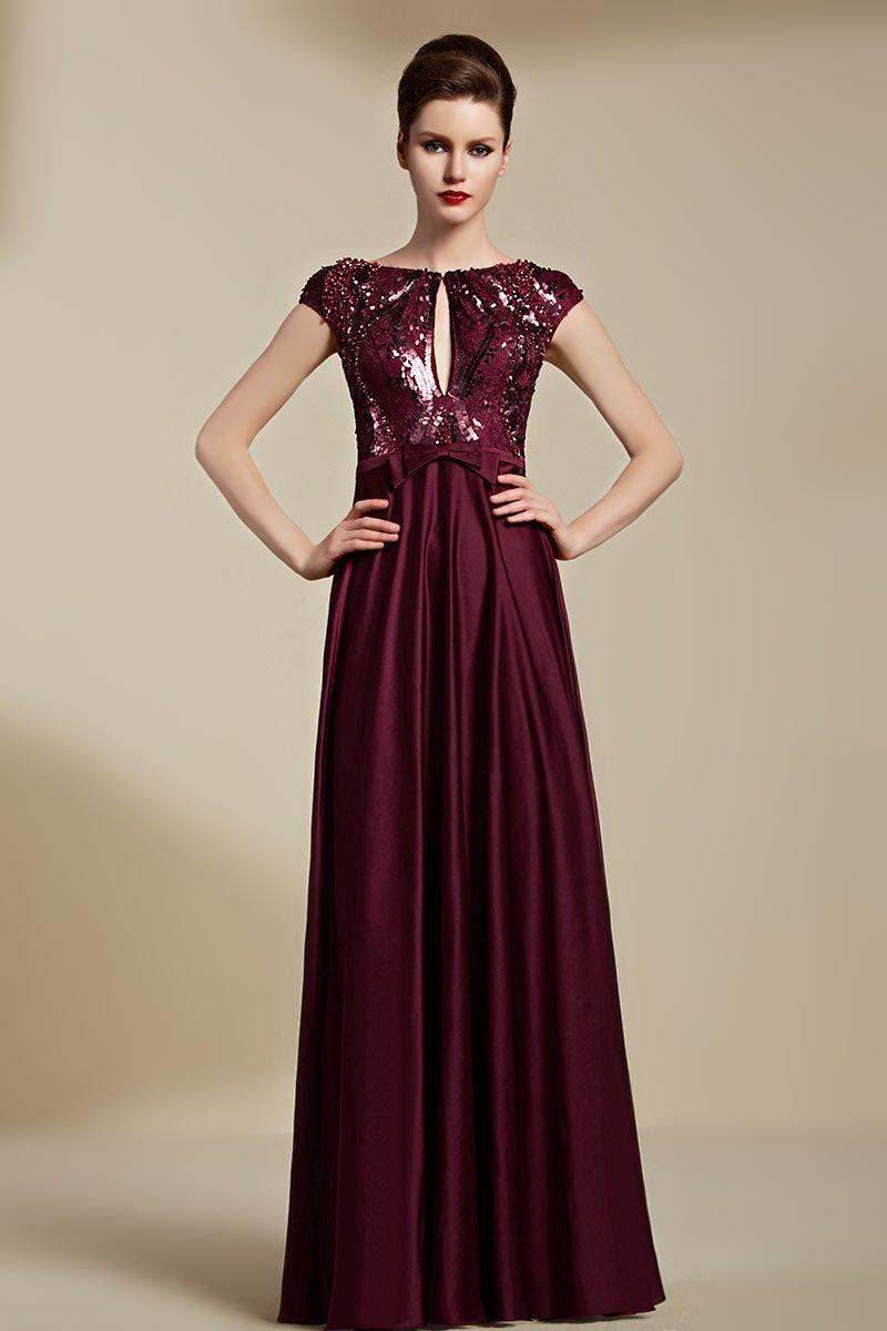 Trouver robe soiree bordeaux