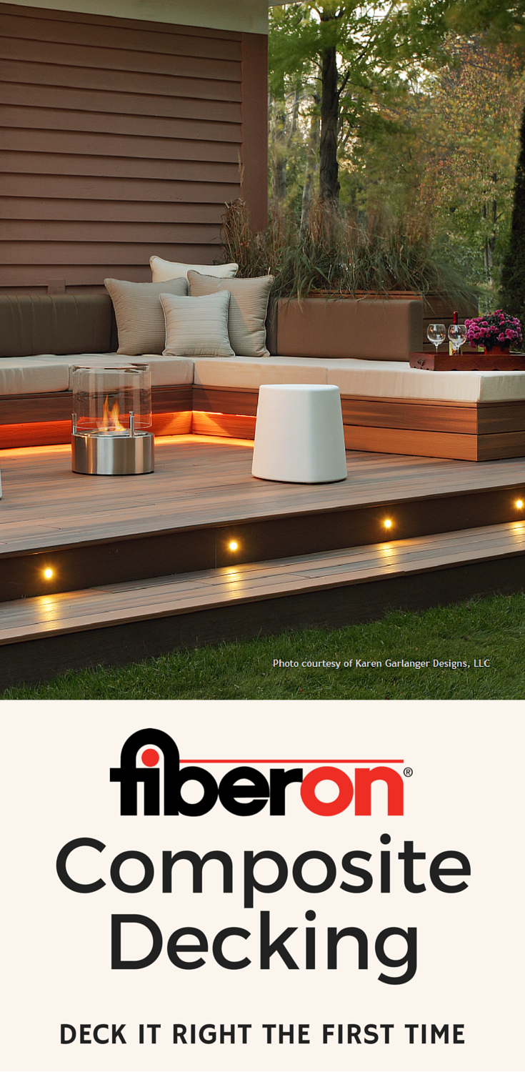 If you love this fiberon porch get a sample of our for Synthetic deck material