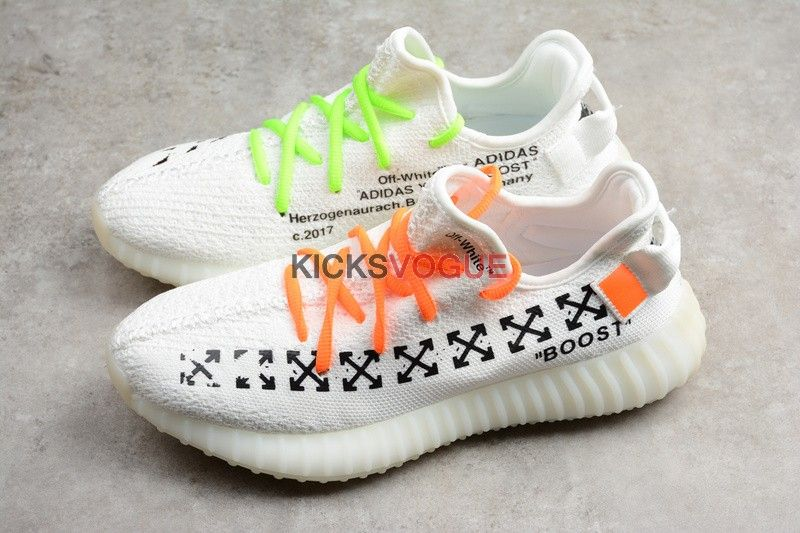 d7181bcefc831 Custom Off-White Arrows x Yeezy Boost 350 V2 Cream White