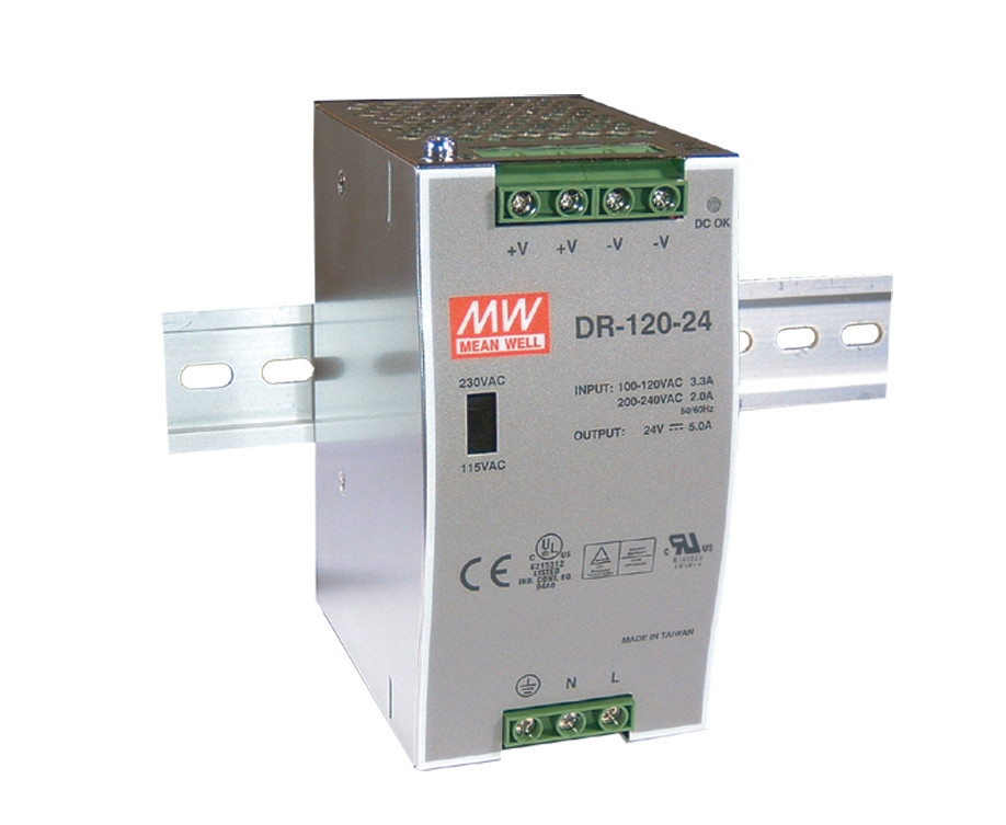52.66$  Buy here  - [Freeshiping 1Pcs] MEAN WELL original DR-120-48 48V 2.5A meanwell DR-120 48V 120W Single Output Industrial DIN Rail Power Supply