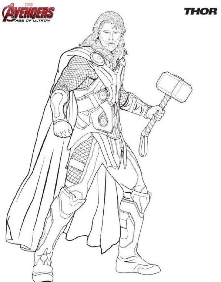Avengers Thor Coloring Pages Gratis Kleurplaten The Avengers Boek Bladzijden Kleuren