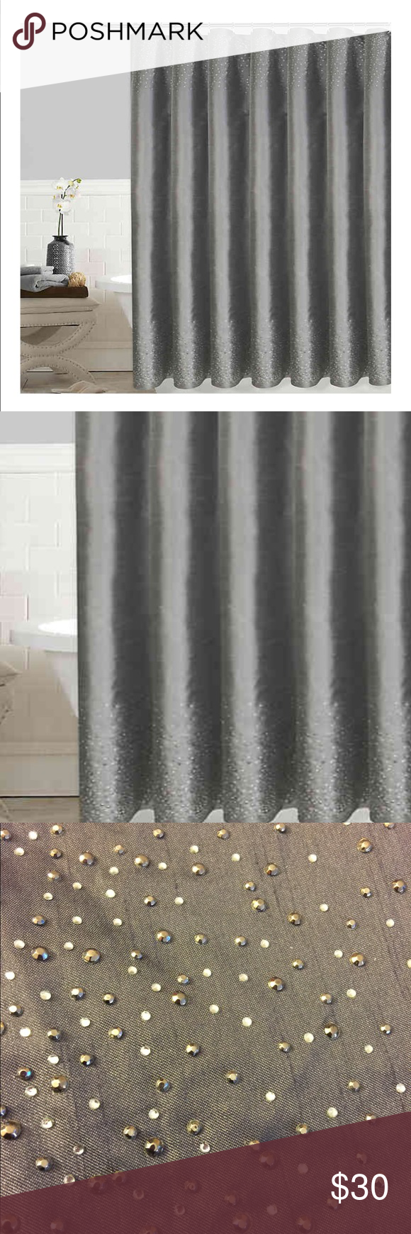 Colordrift Twilight Shower Curtain In Grey Shower Curtain Curtains Colorful Curtains
