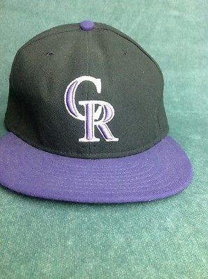 af1a19db3c0 Colorado-Rockies-Baseball-Cap-Hat-Purple-Black-Authentic-On-Field-Cap-MLB-CR
