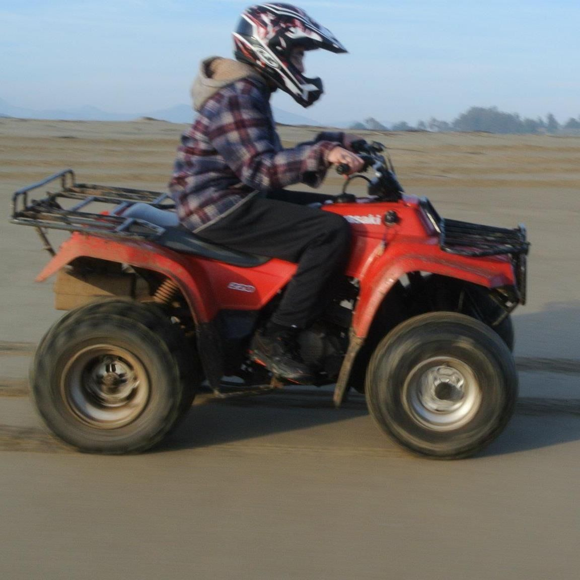 medium resolution of kawasaki bayou 220 our quad just ours is blue
