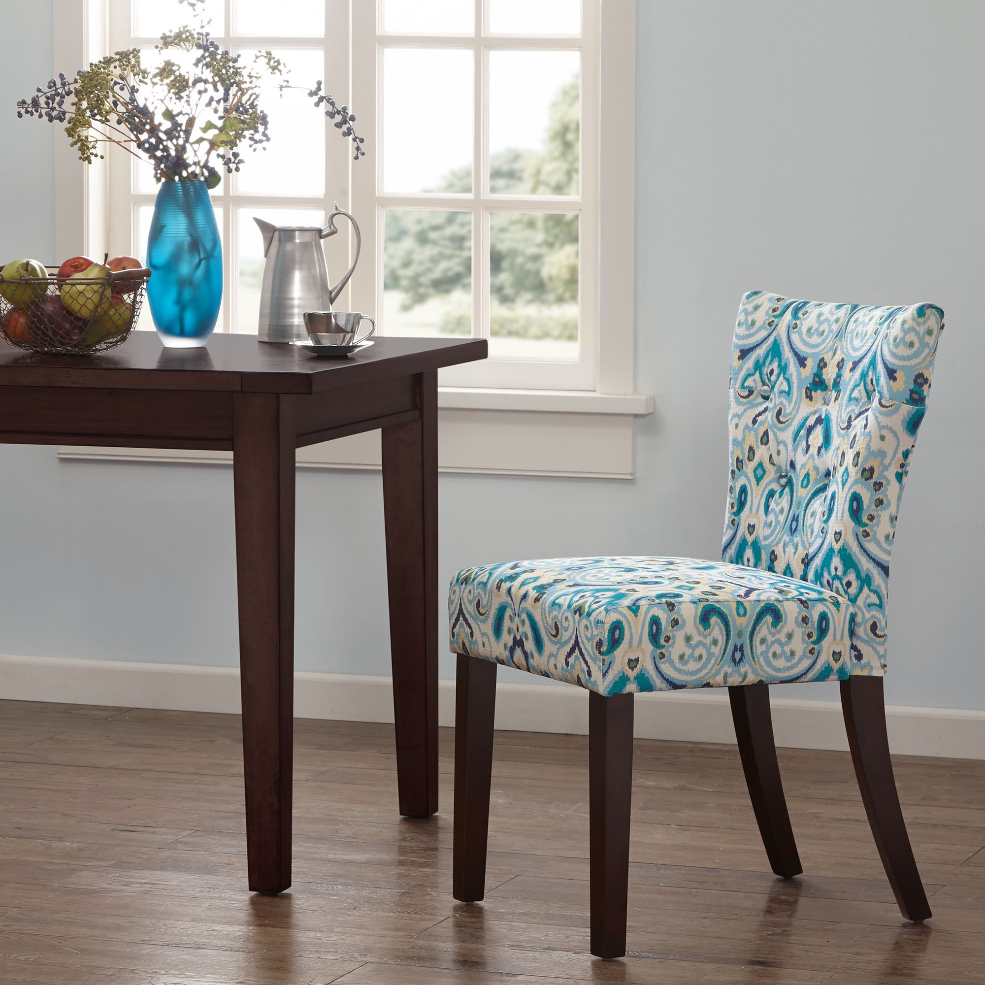 Madison Park Hayes Tufted Back Dining Chair Set of 2 19W x 23D