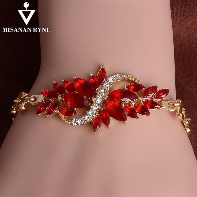 Photo of MISANANRYNE Luxury Wedding Jewelry  Gold Color Chain Bracelet for Women High Quality  Cubic Zircon Bracelets – 1