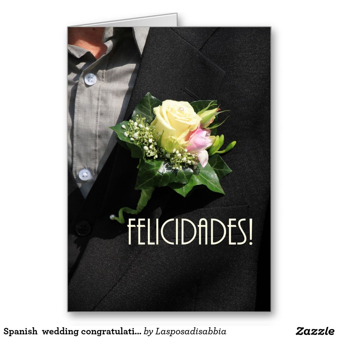 zazzle wedding invitations promo code%0A Spanish wedding congratulations stationery note card