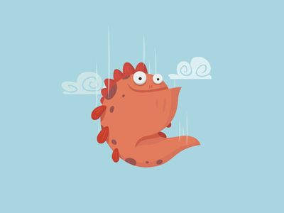 Falling Monster | Illustration | Monster illustration, Cute