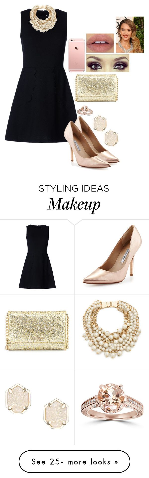 """""""""""Tomorrow is the first blank page of a 365-page book. Write a good one."""" -Brad Paisley"""" by kierstinmoyers on Polyvore featuring RED Valentino, Charles David, Kate Spade and Kendra Scott"""