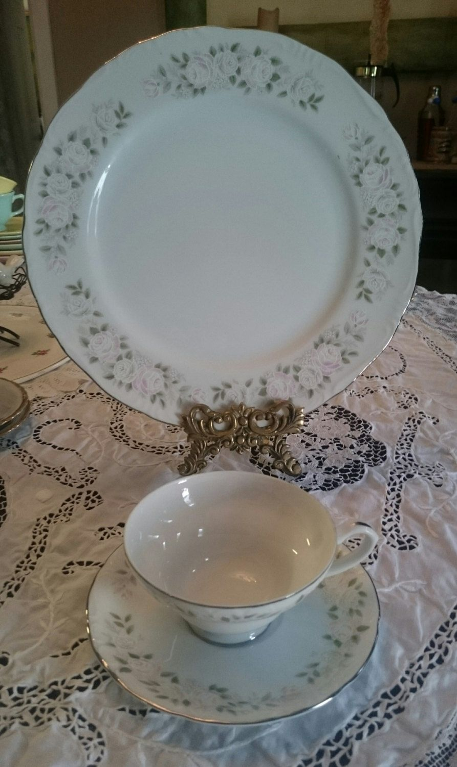 Sheffield Fine China ~3 Piece Plate Setting~ Classic 501~Made in Japan