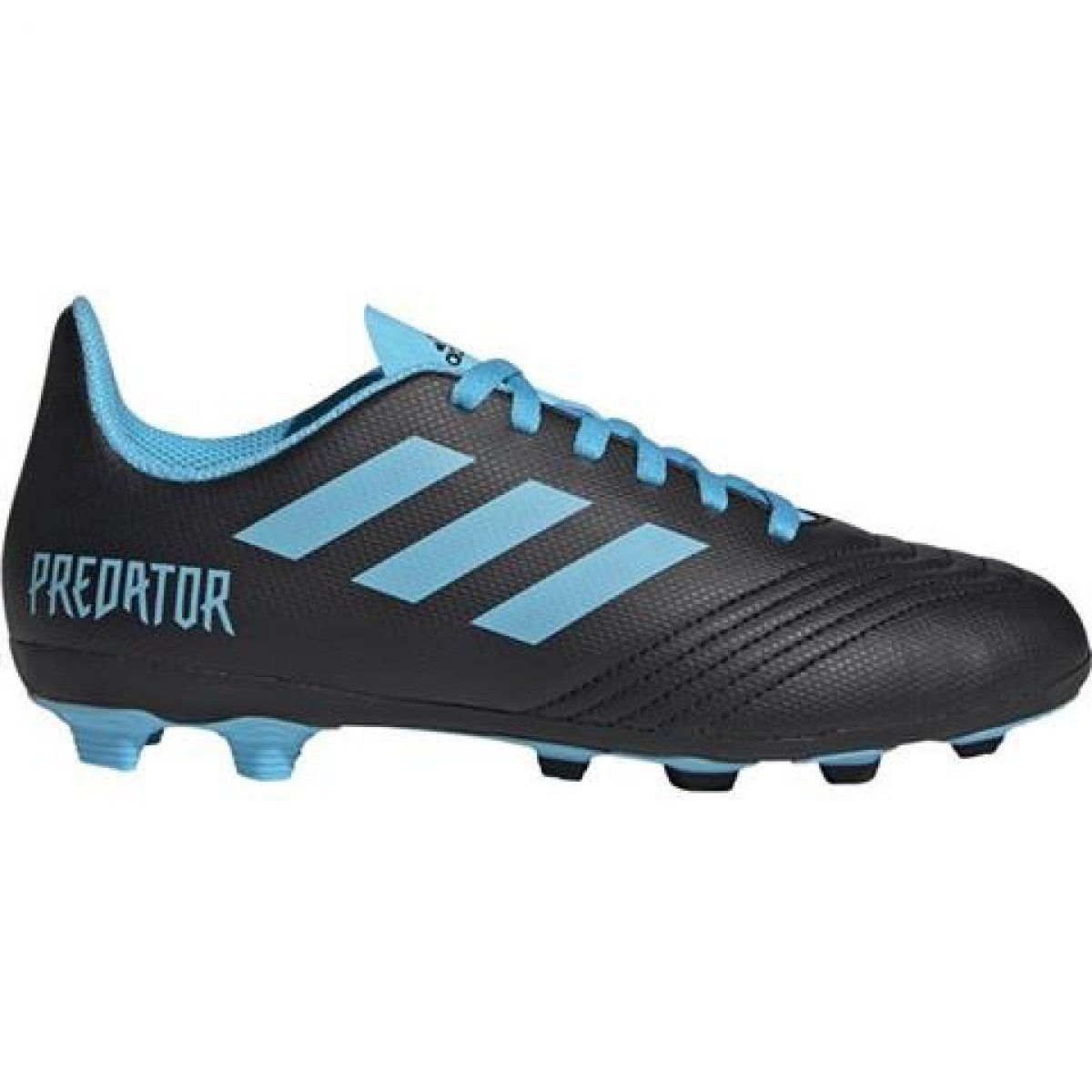 Buty Pilkarskie Adidas Predator 19 4 Fxg Jr G25823 Czarne Czarne Adidas Predator Football Shoes Adidas Soccer Shoes
