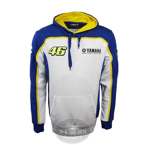New Official Valentino Yamaha Pull Over Hoodie Blue Is Part Of This Seasons Official Valentino Rossi Merchandise Valentino Rossi Yamaha Valentino Rossi Hoodies