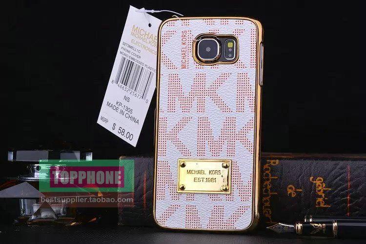 4dd9813815a0 Best MK Michael Kors Galaxy S6 Case Cover Cover Orange MK Samsung ...