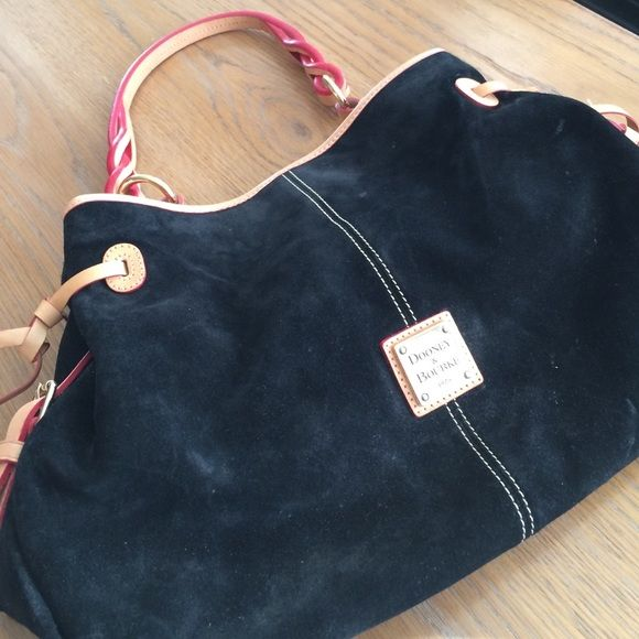 Beautiful black suede Dooney & Burke Maybe worn one day!! Dooney & Bourke Bags Hobos