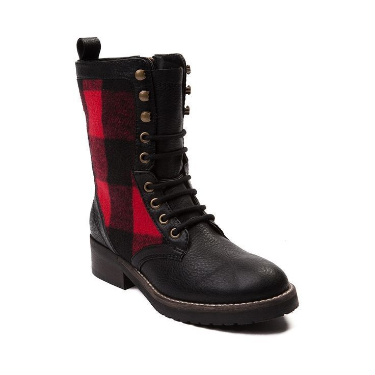 Madden Girl Womens Boots Miles Red and