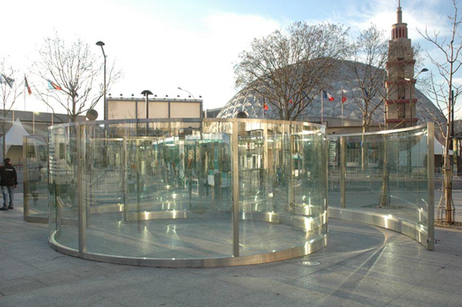 From Boullée to Eternity, Dan Graham tram paris dan graham porte de - installer un cadre de porte