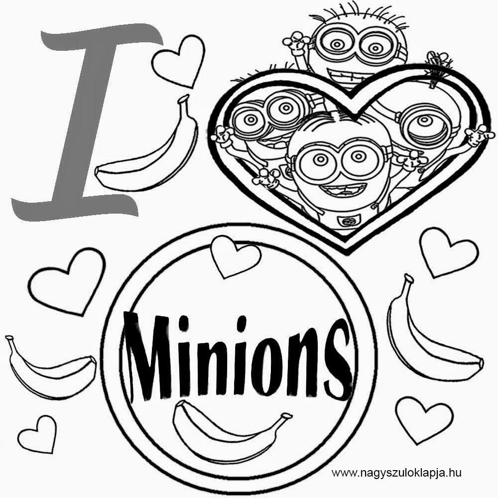 Free colouring pages for minions - Minyonok 10 Nyomtathat Sz Nez
