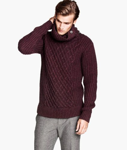 05625b2cc70 H&M/ Men's Winter/Burgundy Turtleneck | Zara and H&M | Men sweater ...