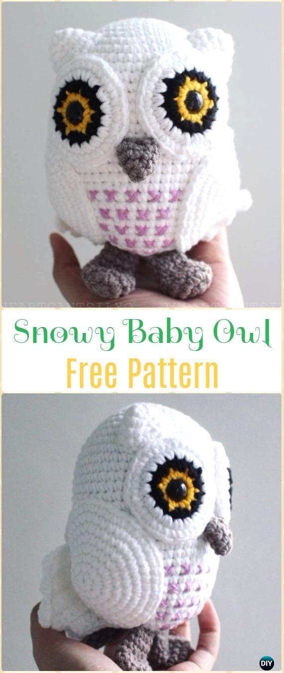 Crochet Snowy Baby Owl Amigurumi Free Pattern - Amigurumi Crochet ...