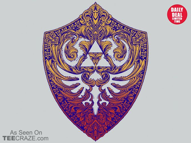 Hylian Victoriana T-Shirt - http://teecraze.com/daily-deal-4/ - Designed by sixamcrisis #tshirt #art #fashion #tee