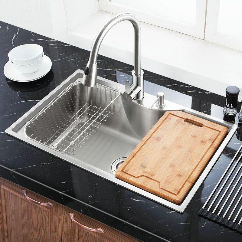 Single Bowl Drop In Sink For Kitchen Stainless Steel Washing Sink Mf7848b Modern Kitchen Sinks Modern Kitchen Sink Design