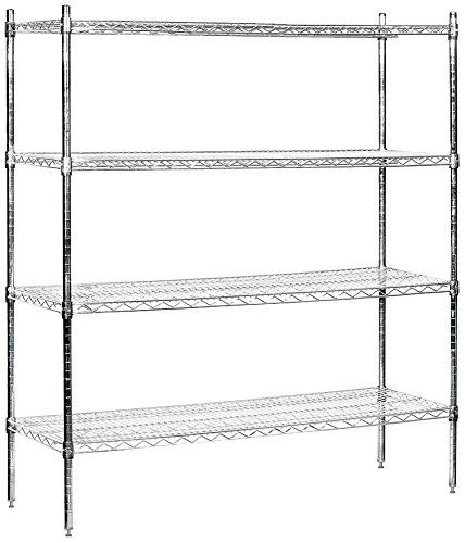 Salsbury Industries Stationary Wire Shelving Unit, 60 Inch Wide By 63 Inch  High By 18 Inch Deep, Chrome | Home | Pinterest | Wire Shelving Units And  Chrome