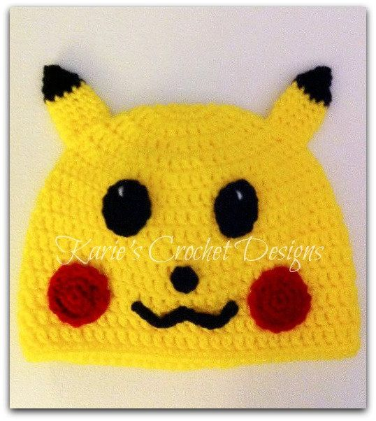 Pokemon Pikachu Handmade Crochet Hat by KariesCrochetDesigns, $16.99 ...