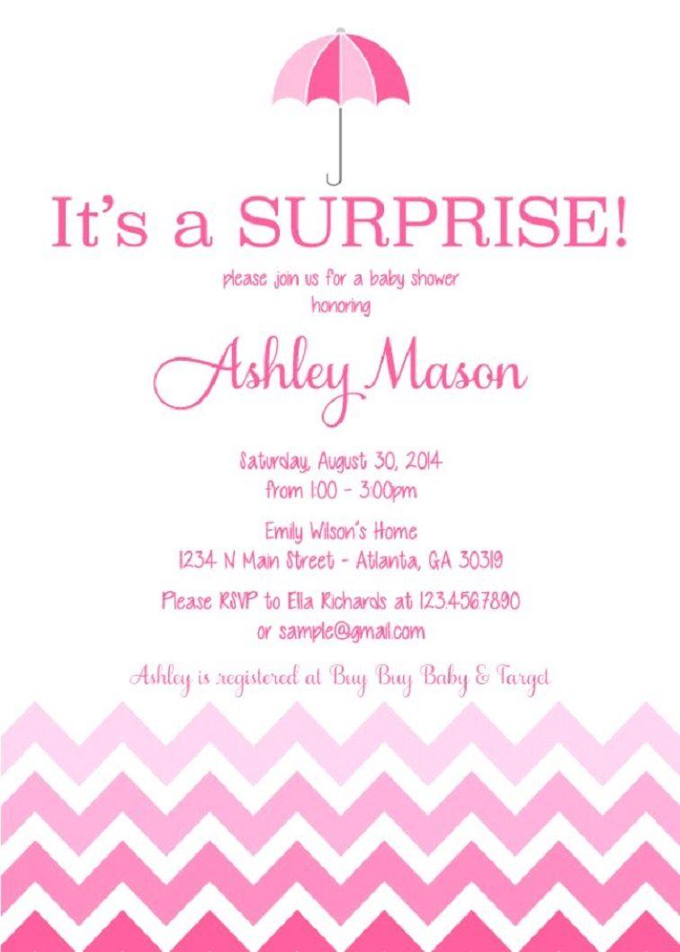 Surprise Baby Shower Invitation Card Baby Shower