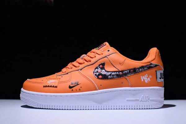 reputable site 4c102 c26d7 2018 Nike Air Force 1 JDI  07 PRM Just Do It Total Orange Black White