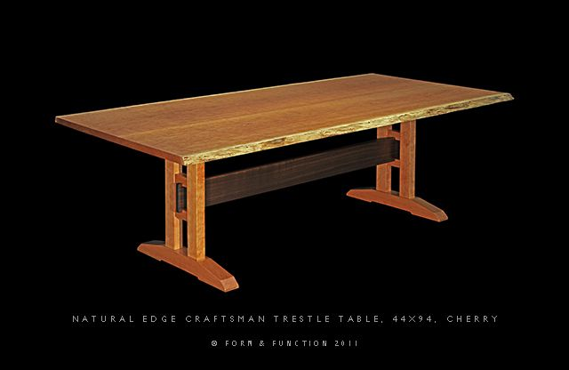 Trestle Table The Verus Trestle Table Black Cherry Prunus Serotina Form Trestle Table Plans Trestle Table Trestle Dining Tables