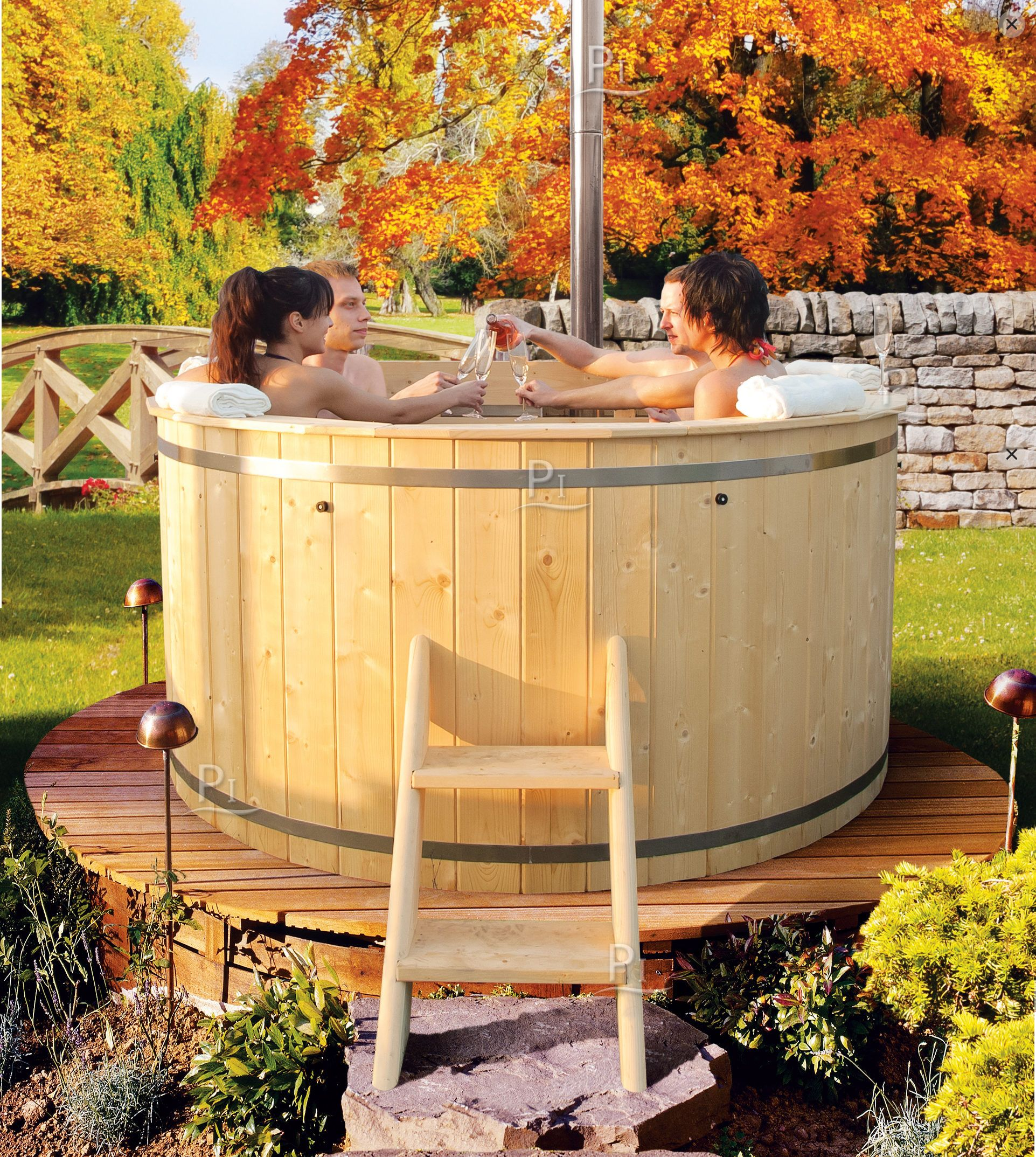 Sauna giardino tinozza vasca da bagno a botte spa nel 2019 pinterest tub spa e home - Tinozza da bagno ...